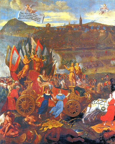 After Charles Herbel: The triumphal march of Charles of Lotharingia at the recapture of Buda, 1694